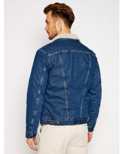 Niebieski kurtka jeansowa Kurtka Jeansowa Wrangler