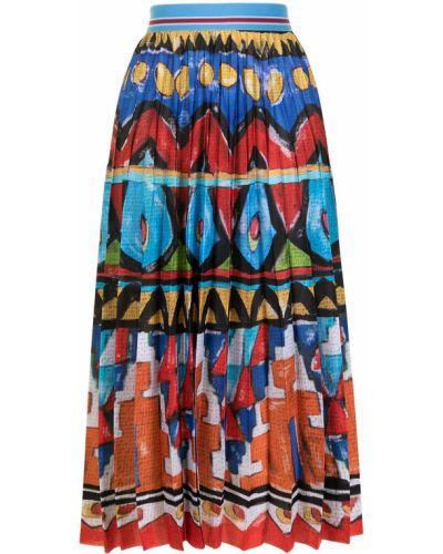 Плиссированная юбка с поясом с декоративной отделкой Stella Jean