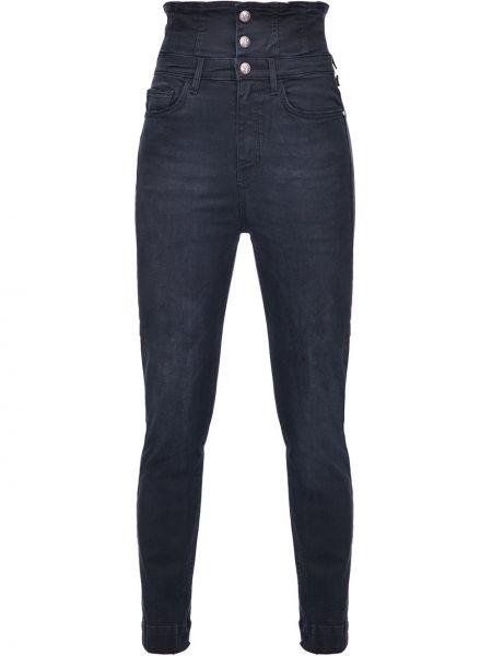 Niebieski bawełna jeansy z kieszeniami z logo Pinko