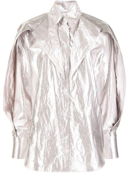 Koszula bawełniana z długimi rękawami w szpic Maticevski