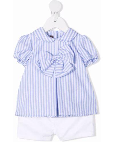 Biała bluzka bawełniana krótki rękaw Little Bear