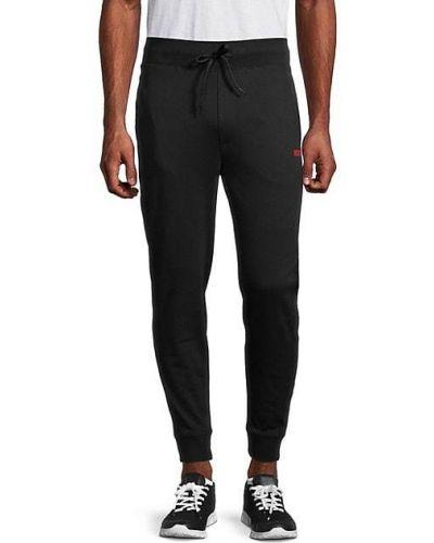 Черные брюки с карманами с манжетами Hugo Hugo Boss