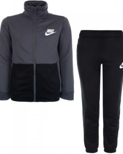Серый спортивный костюм из полиэстера Nike