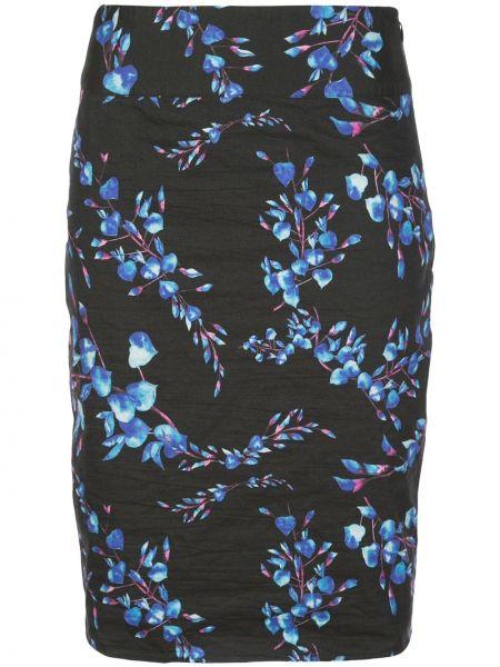 Czarna spódnica z wysokim stanem bawełniana Nicole Miller