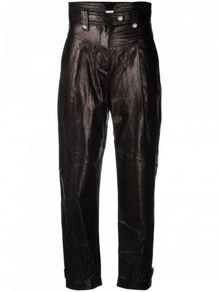 Черные кожаные брюки Iro