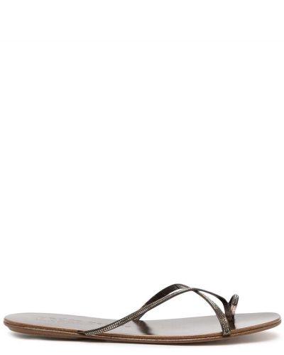 Коричневые кожаные сандалии Pedro García