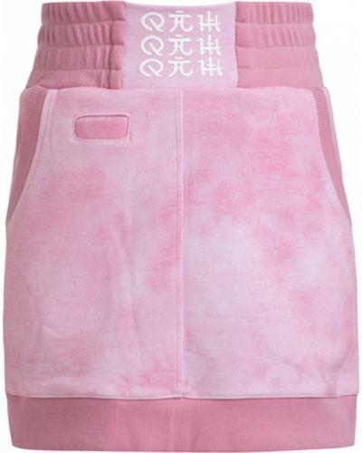 Czarna spódnica mini bawełniana z printem 4112779151,