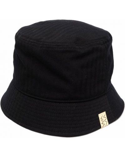 Czarny lniany kapelusz Visvim