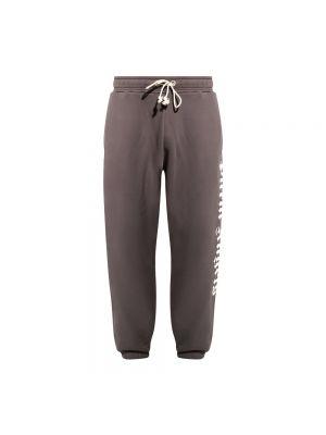 Spodnie dresowe z printem - szare Palm Angels