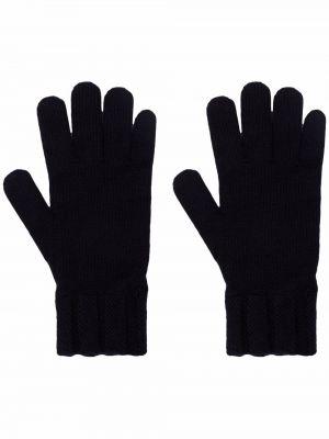 Z kaszmiru rękawiczki - niebieskie Woolrich