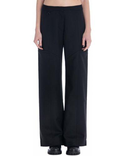 Czarne spodnie wełniane Marine Serre