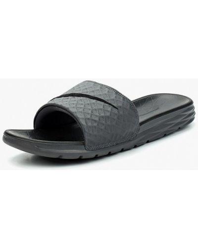 Шлепанцы текстильный серые Nike