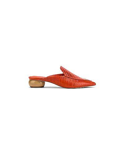 Мюли кожаные на каблуке Jeffrey Campbell