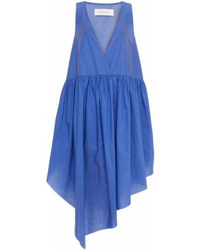 Niebieska sukienka asymetryczna Marques Almeida