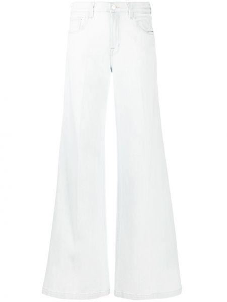 Bezpłatne cięcie bawełna niebieski szeroki jeansy z kieszeniami J-brand