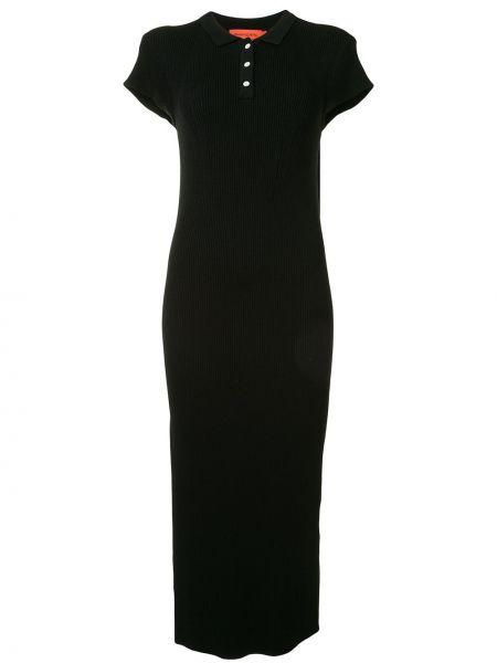 Нейлоновое классическое платье миди на пуговицах с воротником Manning Cartell