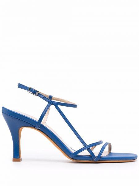 Sandały skórzane na obcasie - niebieskie Maryam Nassir Zadeh