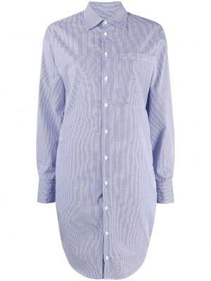 Белое платье макси с воротником на пуговицах Dsquared2