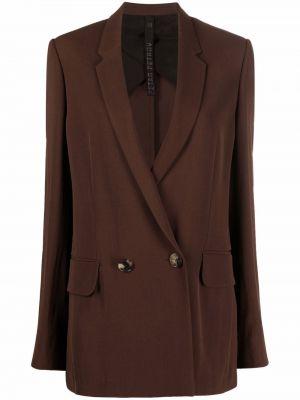 Коричневое пальто с карманами Petar Petrov