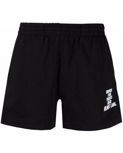 Хлопковые черные шорты с карманами Helmut Lang
