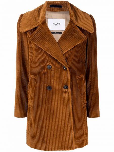 Brązowy płaszcz bawełniany Palto