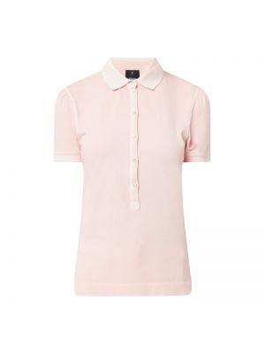 Prążkowany różowy t-shirt bawełniany Joop!