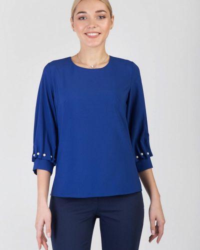 Блузка с длинным рукавом синяя весенний Das
