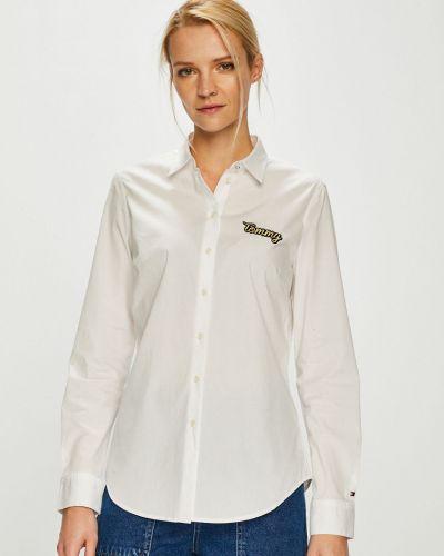 Блузка с длинным рукавом однотонная белая Tommy Hilfiger