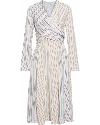 Sukienka midi w paski z wiskozy Victoria Beckham
