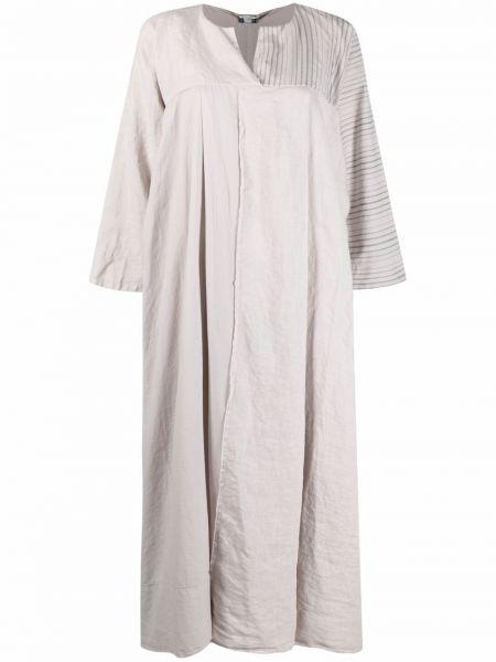 Льняное платье миди с длинными рукавами в полоску Kristensen Du Nord