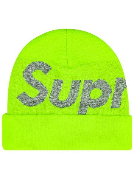 Zielona czapka wełniana Supreme