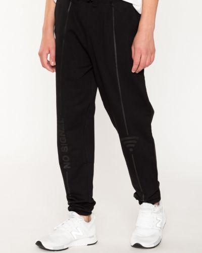 Черные спортивные брюки на резинке со вставками Reporter Young