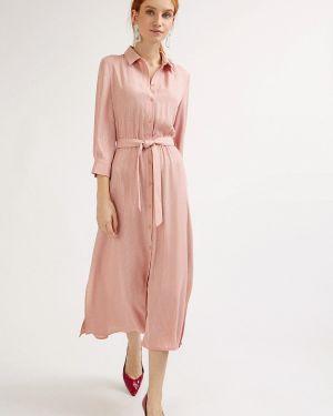 Летнее платье розовое миди Emka