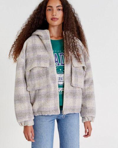 Утепленная куртка - серая Pull&bear