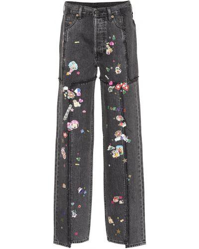 Широкие джинсы mom черные Vetements