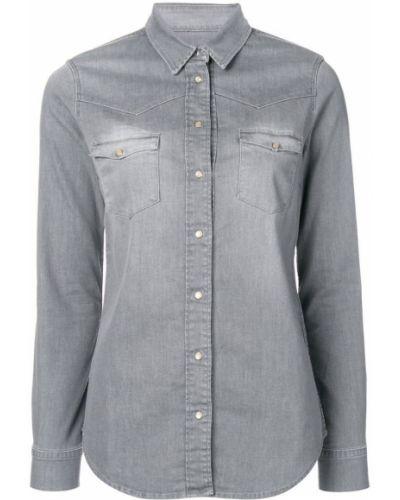Приталенная рубашка - серая Notify
