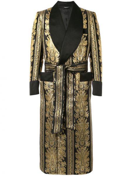 Szlafrok długo czarny Dolce And Gabbana