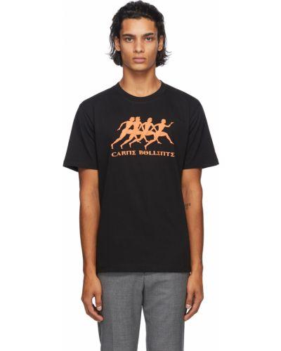 Czarny t-shirt bawełniany krótki rękaw Carne Bollente