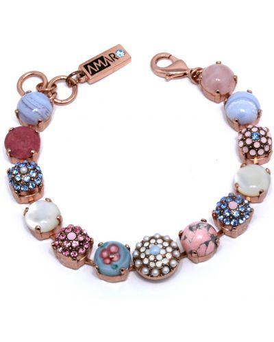 Розовый браслет с камнями Amaro