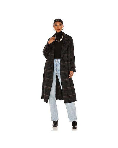 Шерстяное пальто с карманами с манжетами Vince.