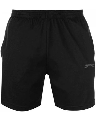 Трикотажные шорты - черные Slazenger