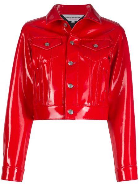 Красная короткая куртка с воротником на пуговицах Comme Des Garçons Girl