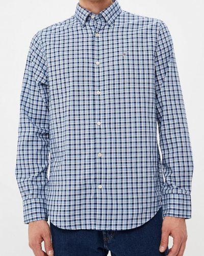 Синяя рубашка с длинным рукавом Gant