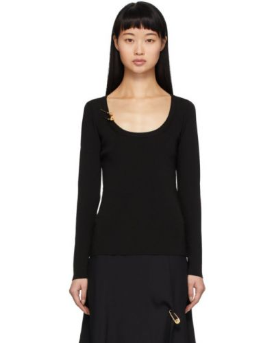Пуловер из вискозы в полоску Versace