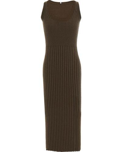 Хлопковое платье - зеленое Mcq Alexander Mcqueen