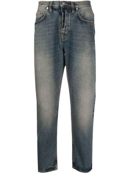Прямые прямые джинсы на пуговицах с жемчугом с карманами Harmony Paris