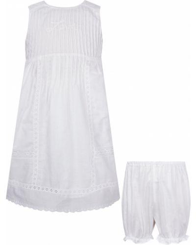 Хлопковое белое платье Dior