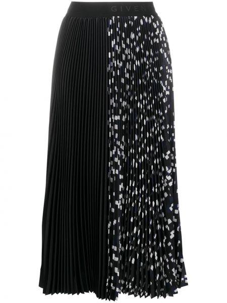 Bawełna pofałdowany czarny spódnica plisowana rozciągać Givenchy