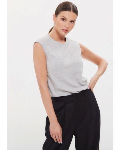 Серая блузка без рукавов Lezzarine