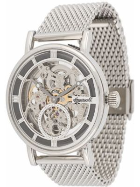 Szary zegarek mechaniczny srebrny klamry Ingersoll Watches